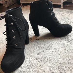 Forever 21 suede tie heels